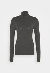 Vero Moda Tall - VMGLORY ROLLNECK - Strickpullover - dark grey - 3