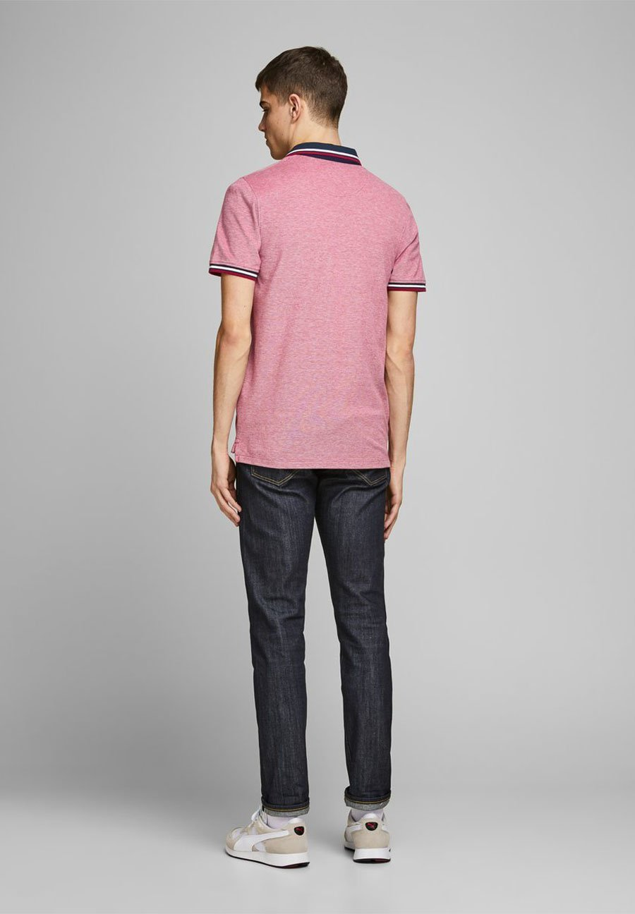 Jack & Jones JJEPAULOS NOOS - Polo shirt - dark red QtJbd
