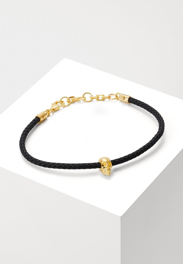 SKULL FRIENDSHIP BRACELET - Bransoletka - gold-coloured