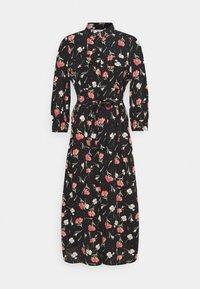 ONLY - ONLNOVA LUX 3/4 LONG DRESS - Košilové šaty - black - 4