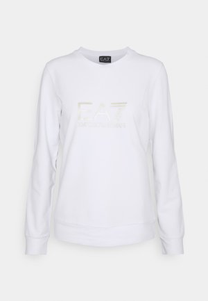 Sweatshirt - white/light gold