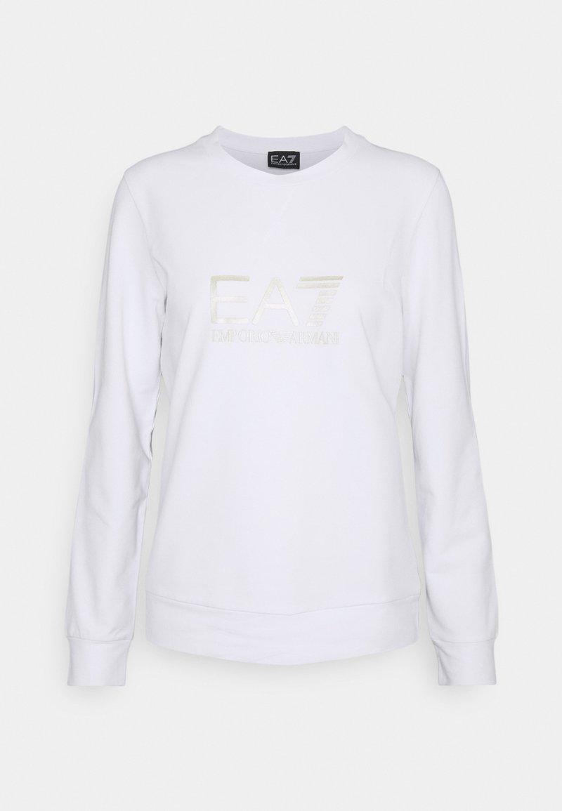 EA7 Emporio Armani - Sweatshirt - white/light gold