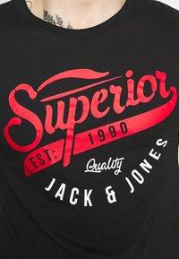 Jack & Jones - JJELOGO TEE - T-shirt imprimé - black - 5
