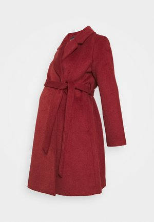 WRAP COAT - Abrigo - red