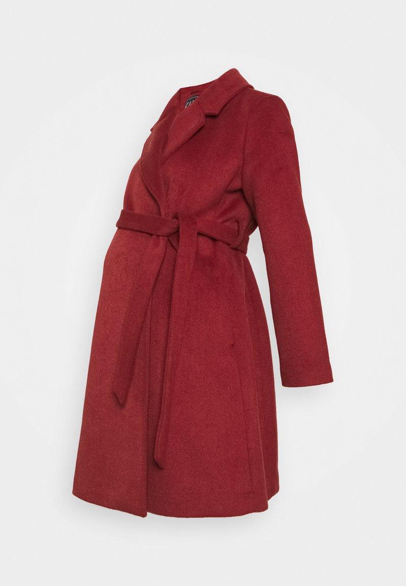 GAP Maternity - WRAP COAT - Abrigo - red