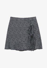 PULL&BEAR - MIT BLUMENPRINT - Áčková sukně - mottled black - 4
