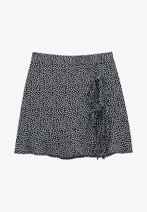 MIT BLUMENPRINT - A-snit nederdel/ A-formede nederdele - mottled black