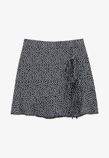 MIT BLUMENPRINT - Áčková sukně - mottled black