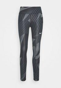 Nike Performance - FAST 7/8 RUNWAY - Leggings - black/black/reflective silver - 3