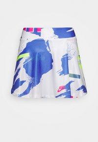 SLAM SKIRT - Falda de deporte - white/sapphire/hot lime/pink foil