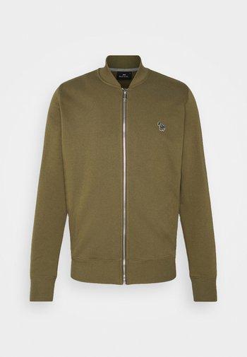 MENS ZIP BOMBER - Zip-up sweatshirt - khaki