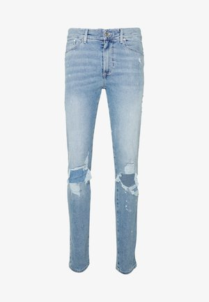 SKINNY BLUE RIP AND PAINT - Jeans Skinny Fit - light blue