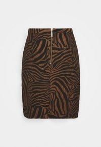 Closet - CLOSET PENCIL SKIRT - Mini skirt - brown - 1
