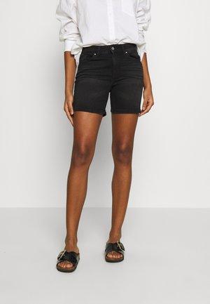 ONLBLUSH MID  - Denim shorts - black