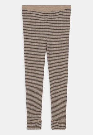 MEO UNISEX - Leggings - Trousers - white cream mel/navy