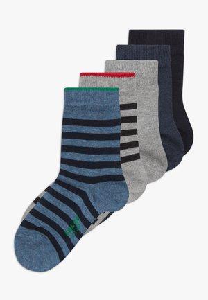 5 PACK - Socks - grey/dark blue