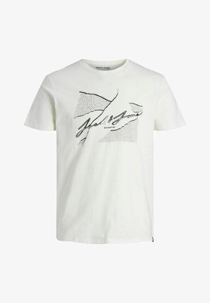 JORRON TEE CREW NECK - T-shirt z nadrukiem - cloud dancer