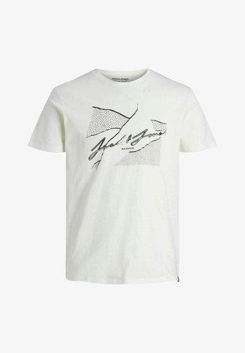 JORRON TEE CREW NECK - Print T-shirt - cloud dancer