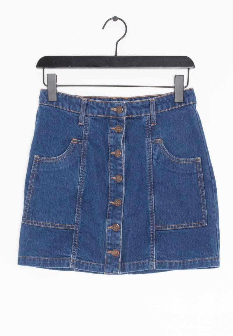 Stradivarius - Spódnica jeansowa - blue
