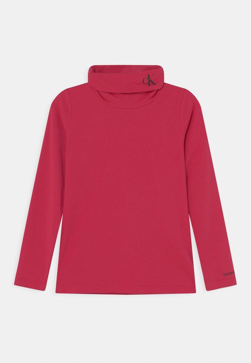 Calvin Klein Jeans - MONOGRAM ROLL NECK - T-shirt à manches longues - raspberry smoothie