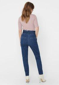 ONLY - REGULAR FIT ONLPOPTRASH PAPERBAG - Straight leg jeans - dark blue denim - 2