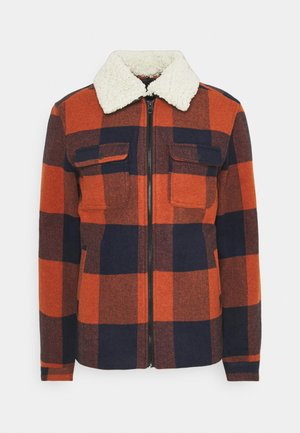 ONSROSS NEW CHECK JACKET - Allvädersjacka - bombay brown