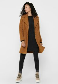ONLY - Classic coat - pumpkin spice - 1
