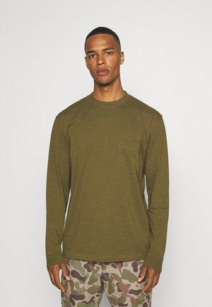 BEN TEE - Long sleeved top - dark olive