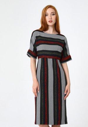ALTEA - Shift dress - schwarz rot