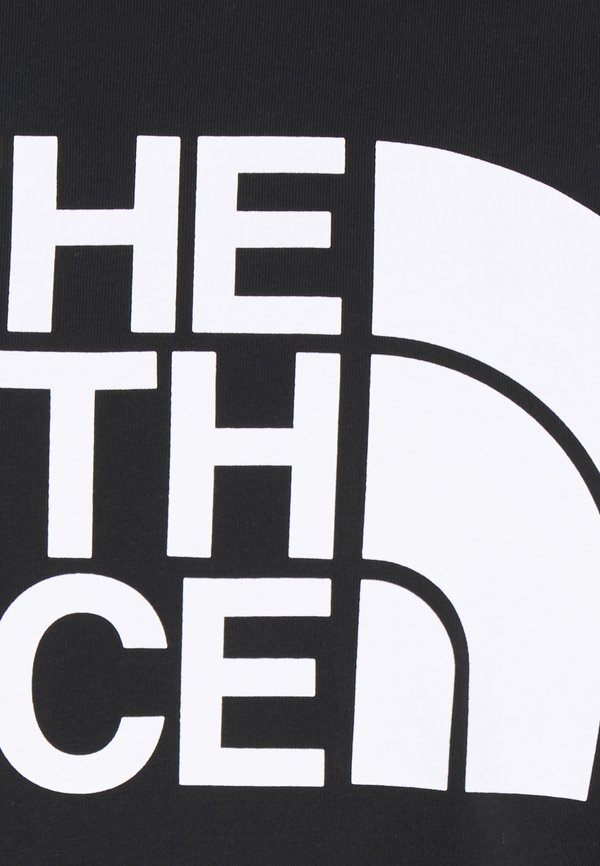 The North Face STANDARD TEE - T-shirt z nadrukiem - black/czarny Odzież Męska HVXE