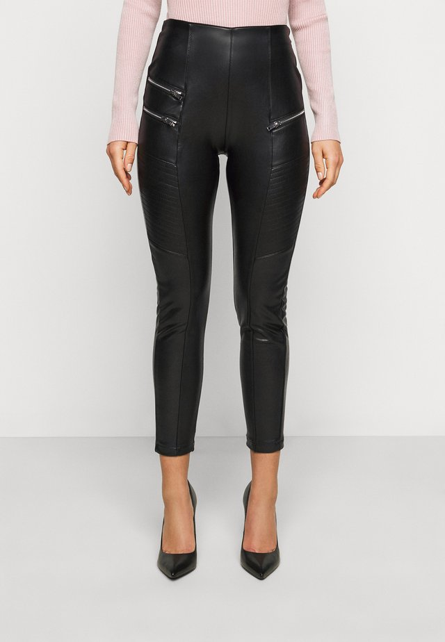 BIKER - Trousers - black