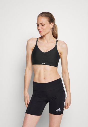 INFINITY COVERED LOW - Light support sports bra - black/white