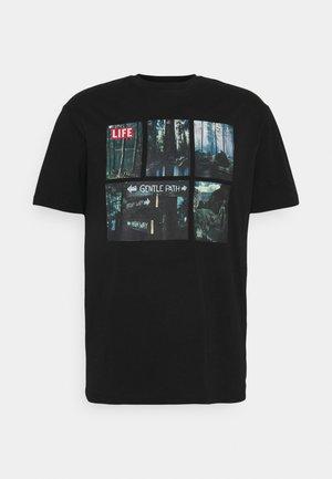 ONSLIFEMAGAZINE TEE - Print T-shirt - black