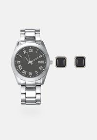 Pier One - Watch Cufflink/Uhr Manschettenknöpfe Set - Hodinky - silver-coloured - 0