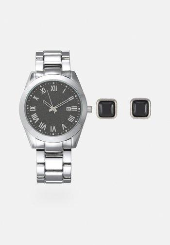 Watch Cufflink/Uhr Manschettenknöpfe Set - Watch - silver-coloured