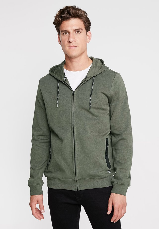 ISCAR - veste en sweat zippée - army