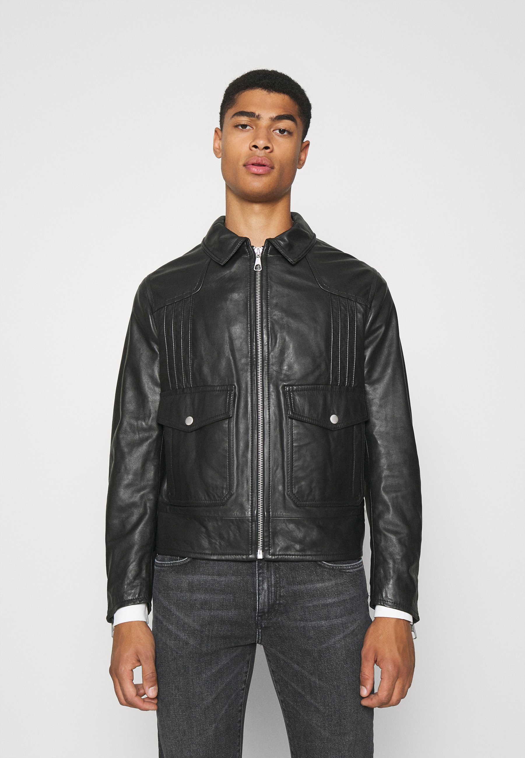 Men NOSKUT - Leather jacket