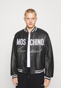 MOSCHINO - Leather jacket - black - 4