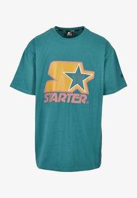 Starter - Print T-shirt - green/yellow/rose - 6