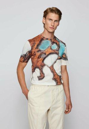 T-Shirt print - open white