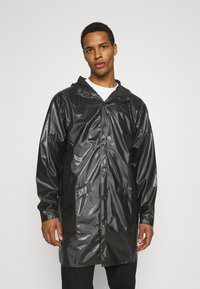Rains - LONG JACKET UNISEX - Vodotěsná bunda - shiny black - 0