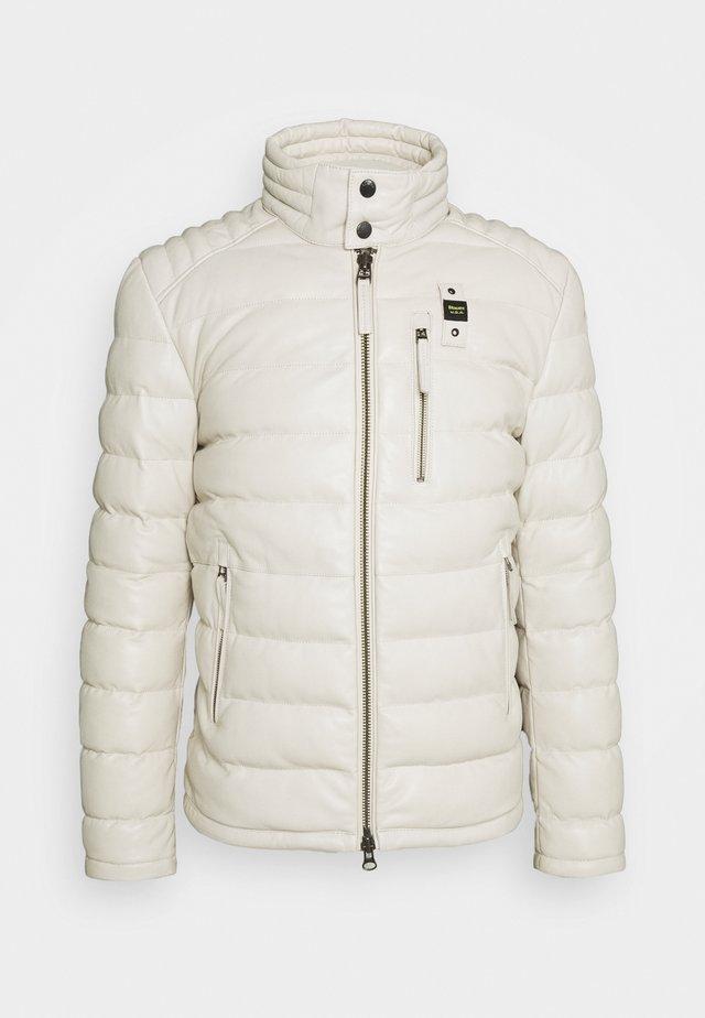 JACKET - Veste en cuir - optical white
