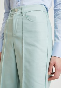 Mos Mosh - NIGHT PANT SUSTAINABLE - Trousers - mint haze - 4