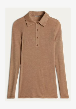 Polo shirt - braun natural camel