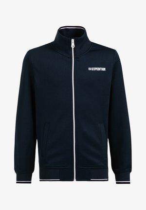 Sweater met rits - dark blue