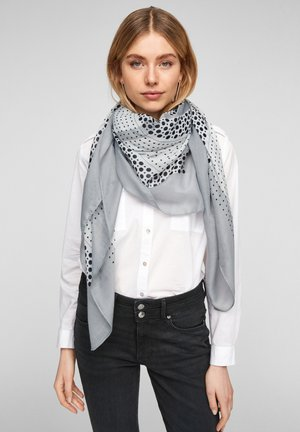 Scarf - light grey aop