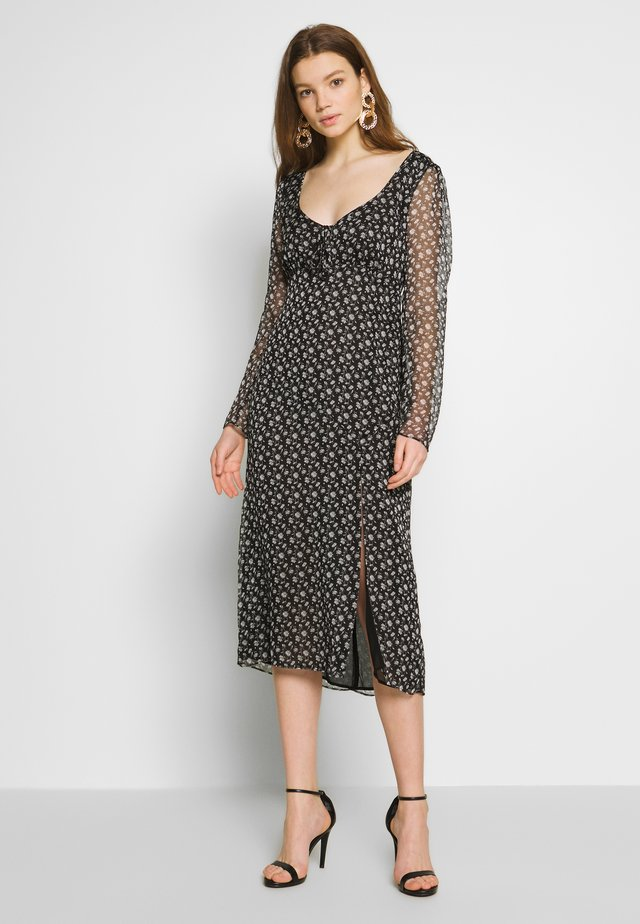 LAURIE MIDI DRESS - Korte jurk - flora noir