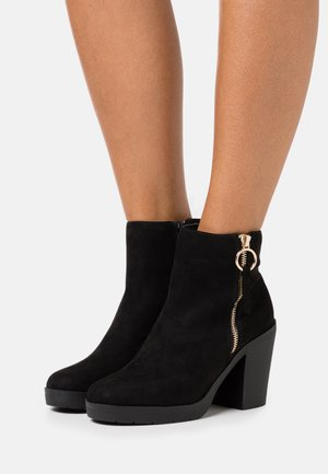 ABBY CHUNKY BOOT - High heeled ankle boots - black