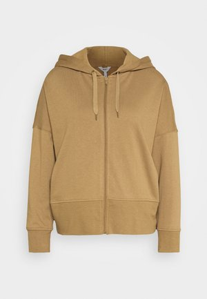 OBJVANA HOODIE - Zip-up hoodie - humus