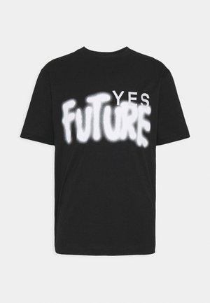 YES FUTURE UNISEX - Print T-shirt - black